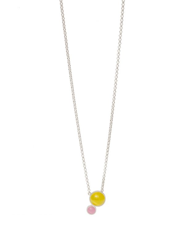 Chromatic Sphere Necklace – Yellow & Pink