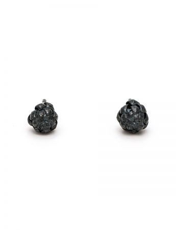 Extra Small Norfolk Pine Stud Earrings - Black