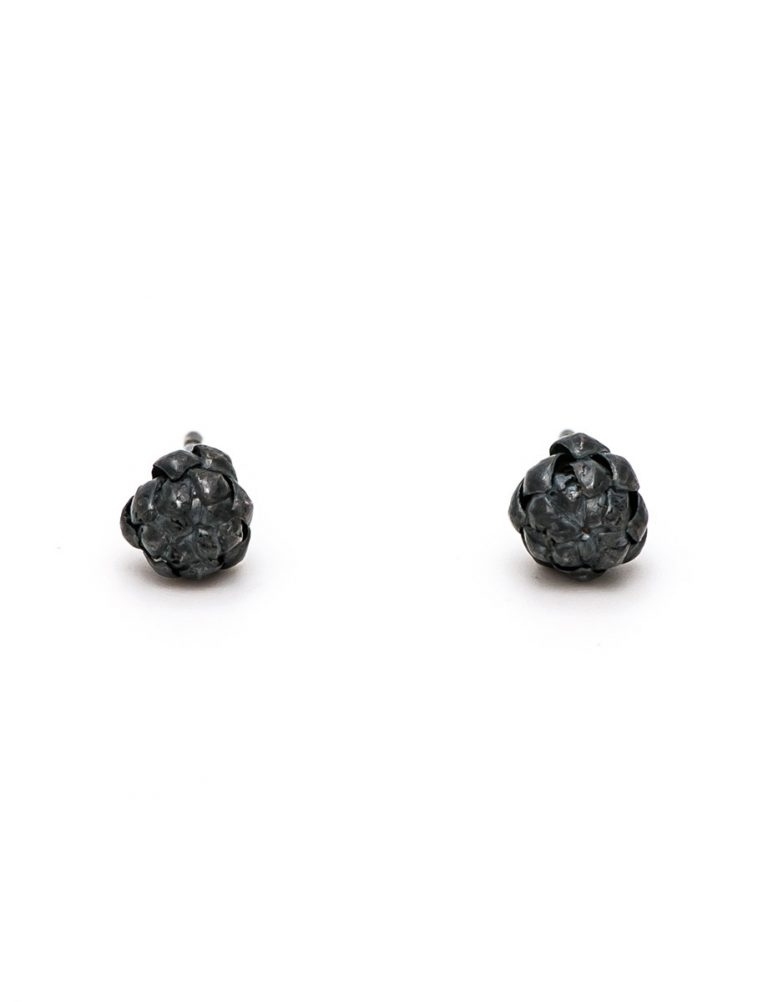 Extra Small Norfolk Pine Stud Earrings – Black