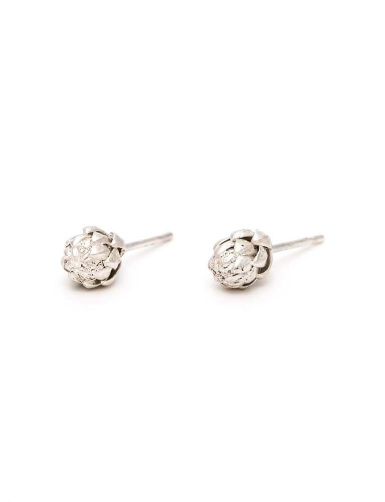 Extra Small Norfolk Pine Stud Earrings – Silver