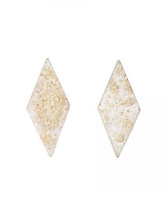 Galaxy Rhombus Stud Earrings - Silver & Gold