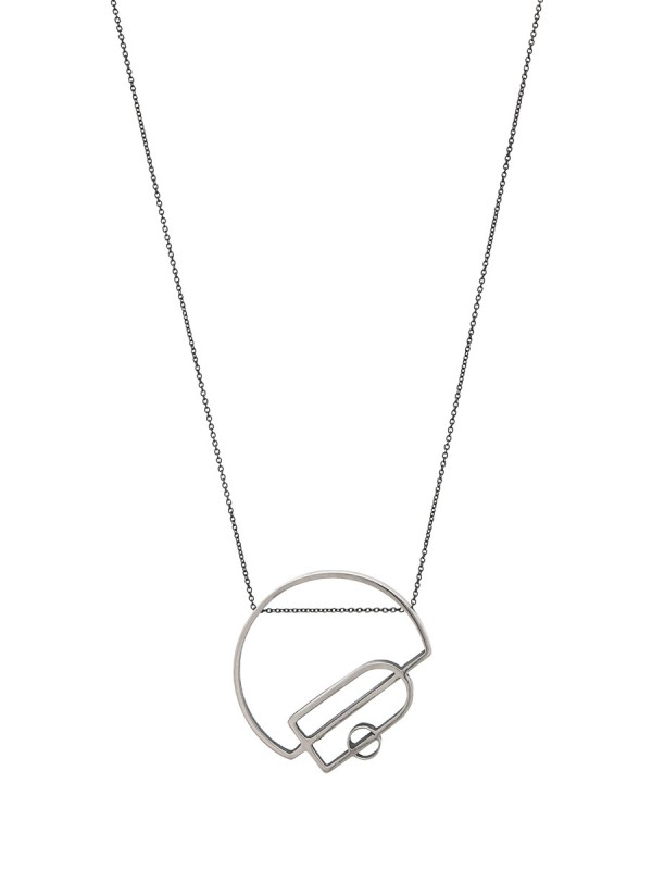 Intersected Arch Outline Necklace