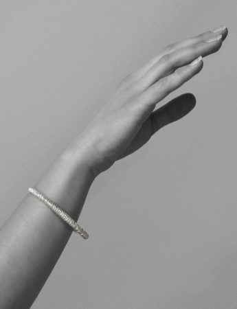 Mini Facet Bangle - Silver