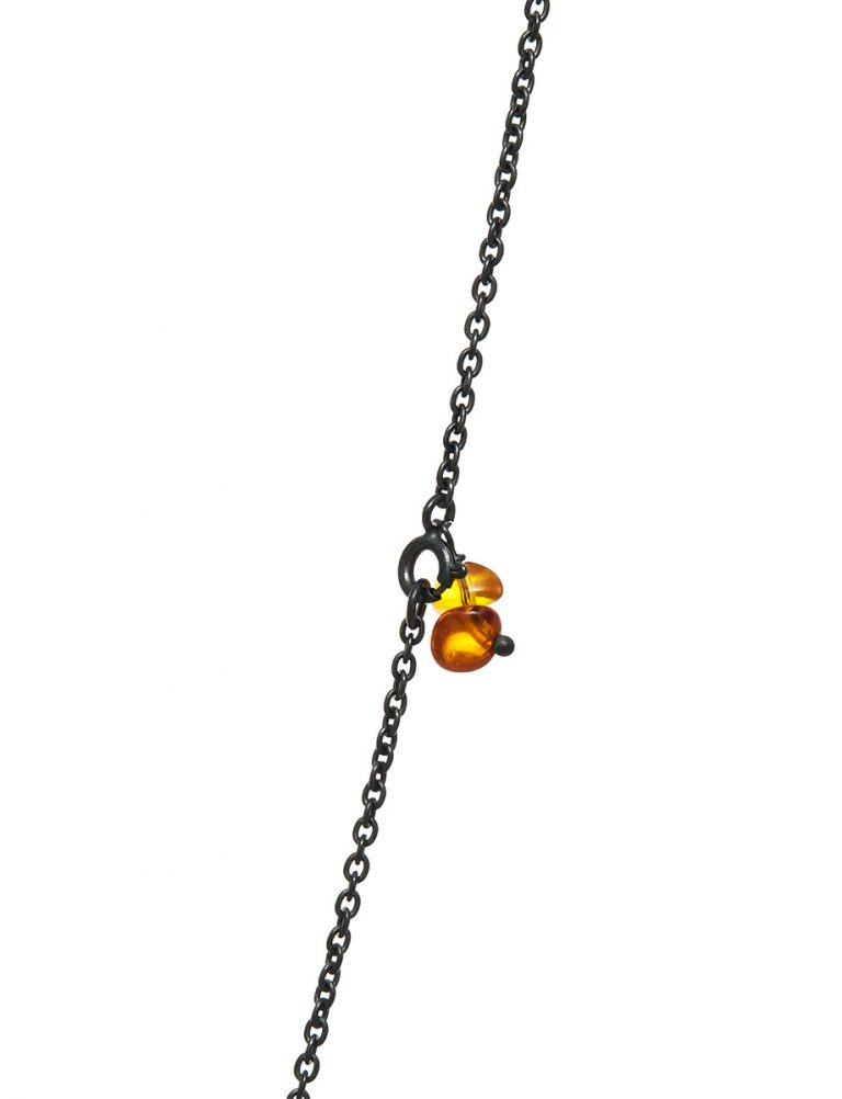 Norfolk Pine Double Drop Pendant Necklace – Amber