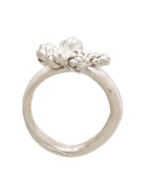 Norfolk Pine Five Cluster Ring – Silver