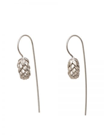 Norfolk Pine Hook Earrings - Silver