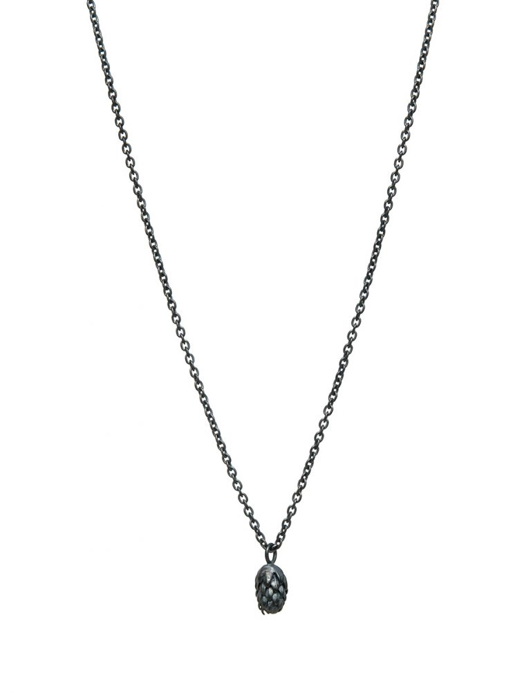 Beachcomber Norfolk Pine Single Drop Necklace – Black
