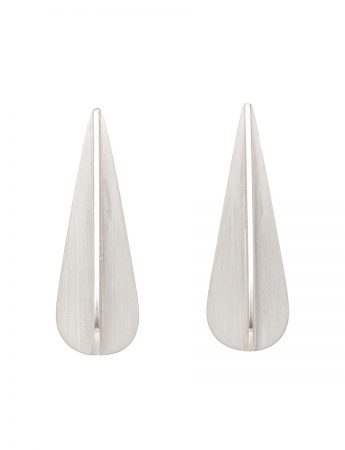 Pod X Series Drop Earrings - Silver