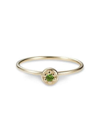 Poppy Rock Tsavorite Garnet Ring - Yellow Gold