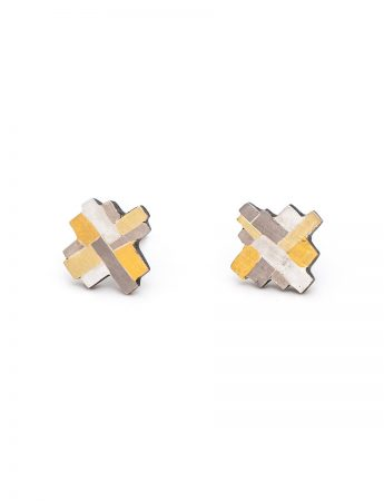Raw Terrain Cross Stud Earrings
