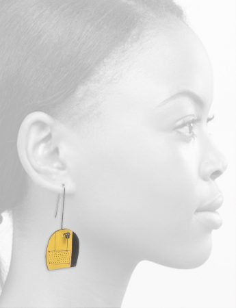 Reversible Apron Earrings – Yellow & Watermelon
