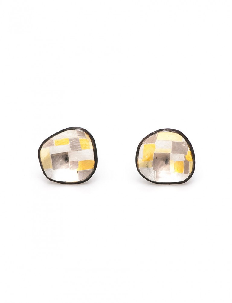 Shadowed Terrain Organic Stud Earrings