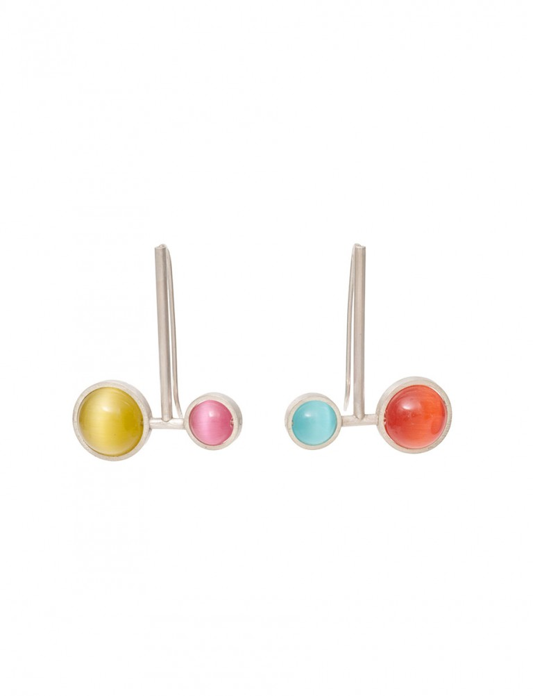 Small & Large Chromatic Sphere Earrings – Multicolour