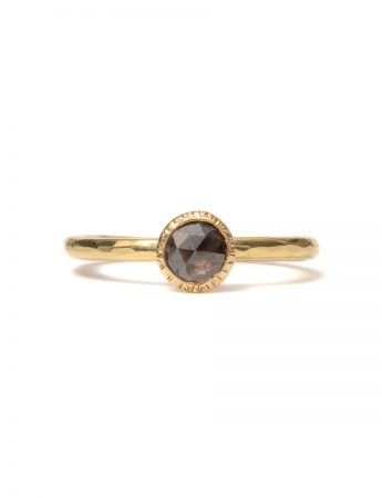 Burnt Umber Diamond Ring - Yellow Gold