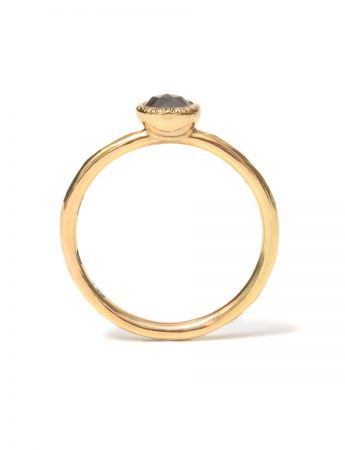 Burnt Umber Diamond Ring – Yellow Gold
