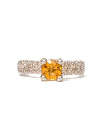 Cat's Eye Citrine Ring - Silver