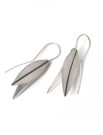 Folded Eucalypt Hook Earrings