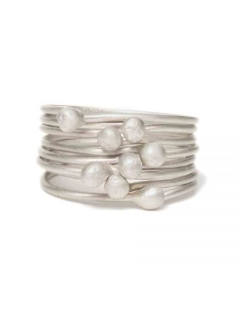 Petits Pois Eight Stack Ring - Silver