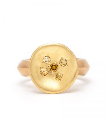 Posy Ring - Yellow Diamond