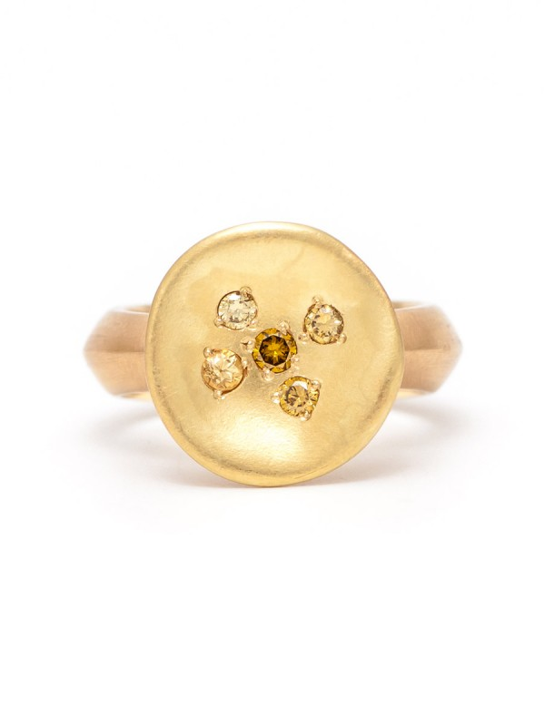 Posy Ring – Yellow Diamond