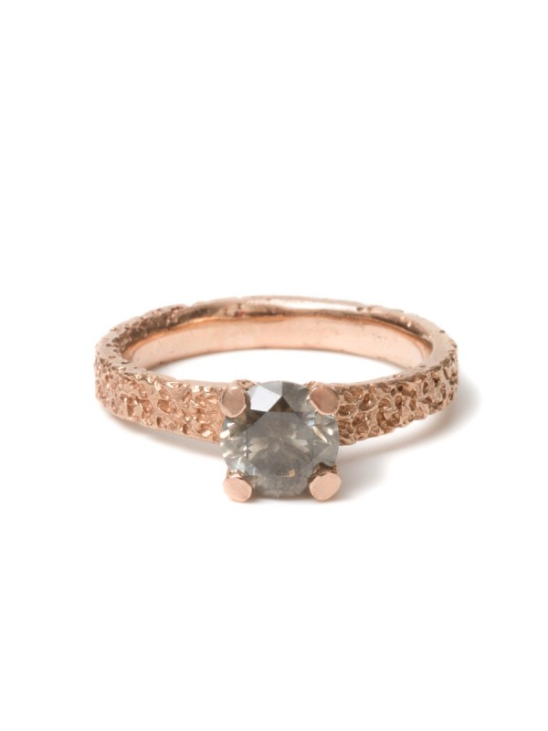 Smoky Diamond Ring – Rose Gold