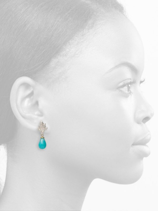 Coral Stud Earrings – Amazonite