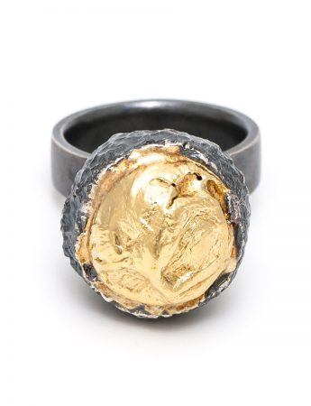 Eruption Ring – Black & Gold