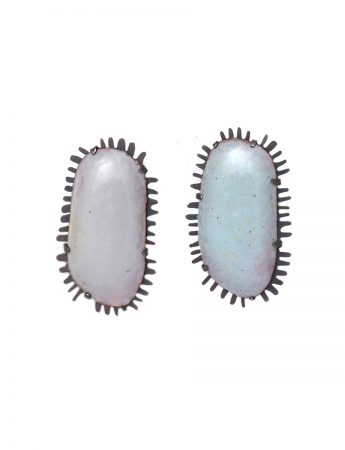 Galaxy Earrings - Pale Grey