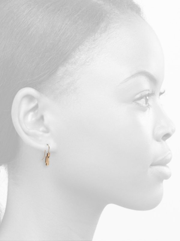 Intervals Hook Earrings – Gold & Black Diamonds
