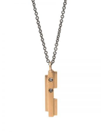 Intervals Necklace - Gold & Black Diamonds