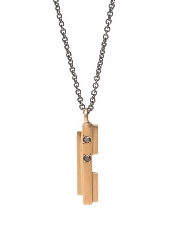 Intervals Necklace – Gold & Black Diamonds