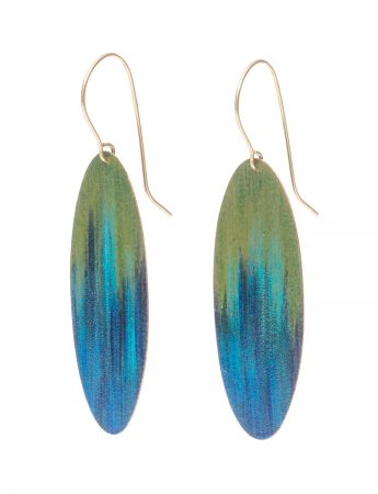 Lakeside Earrings - Blue & Green