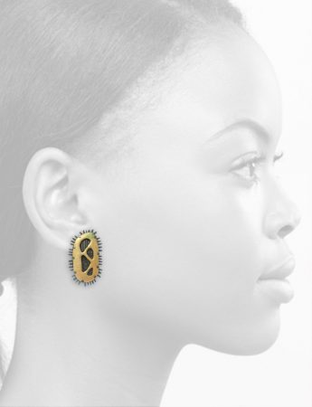Large Cut Out Earrings – Yellow & Orange