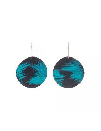 Large Landline Earrings - Teal & Navy