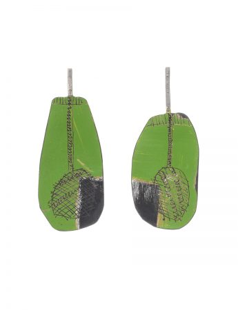 Long Apron Earrings – Green