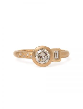 Radiance Ring - Gold & Champagne Diamonds