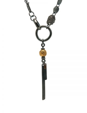 Ramshackled Necklace – Black & Gold