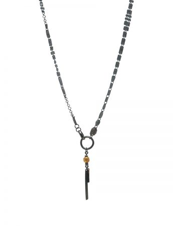 Ramshackled Necklace - Black & Gold