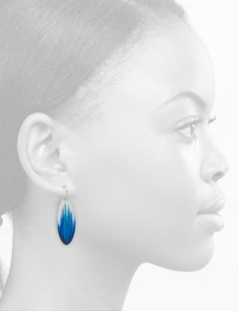 Surf Earrings – Blue & White