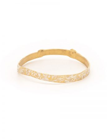Swirl Bangle - Gold Plated