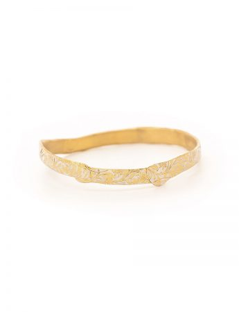 Swirl Bangle – Gold Plated