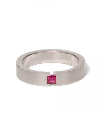 Tension Illusion Ring - Ruby
