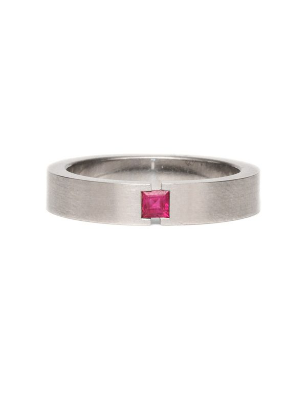 Tension Illusion Ring – Ruby