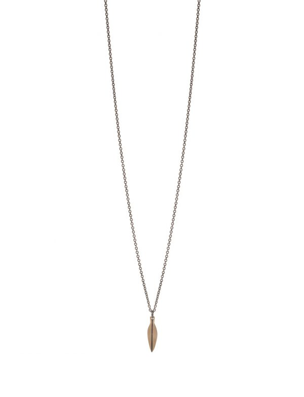 Small Eucalyptus Leaf Necklace – Rose Gold