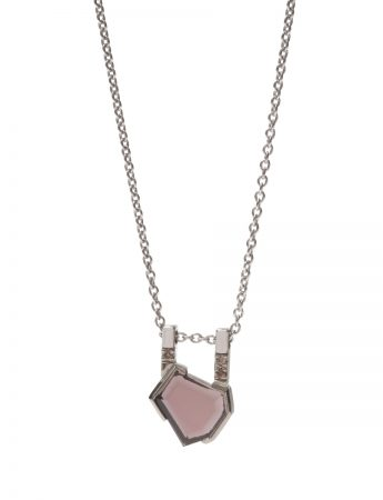 Agility Necklace - Plum Spinel & Diamond