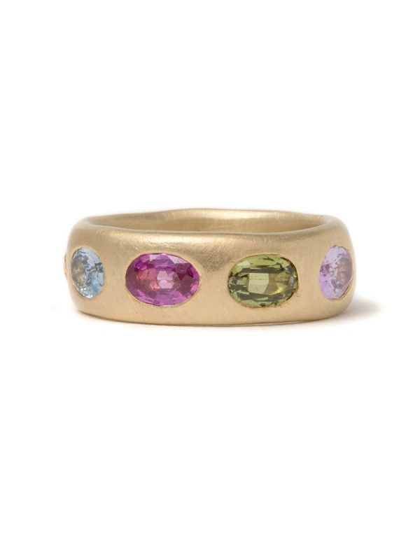 Extra Large Multicolour Eternal Love Ring – Gold