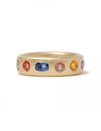 Large Multicolour Eternal Love Ring – Blue Sapphire