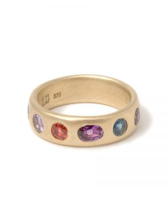 Large Multicolour Eternal Love Ring - Purple Sapphire