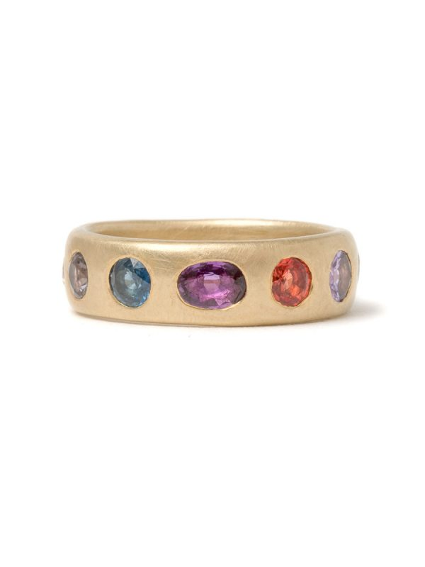 Large Multicolour Eternal Love Ring – Purple Sapphire