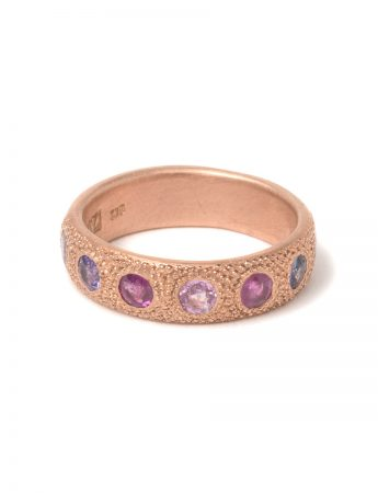 Large Multicolour Eternal Love Ring - Rose Gold